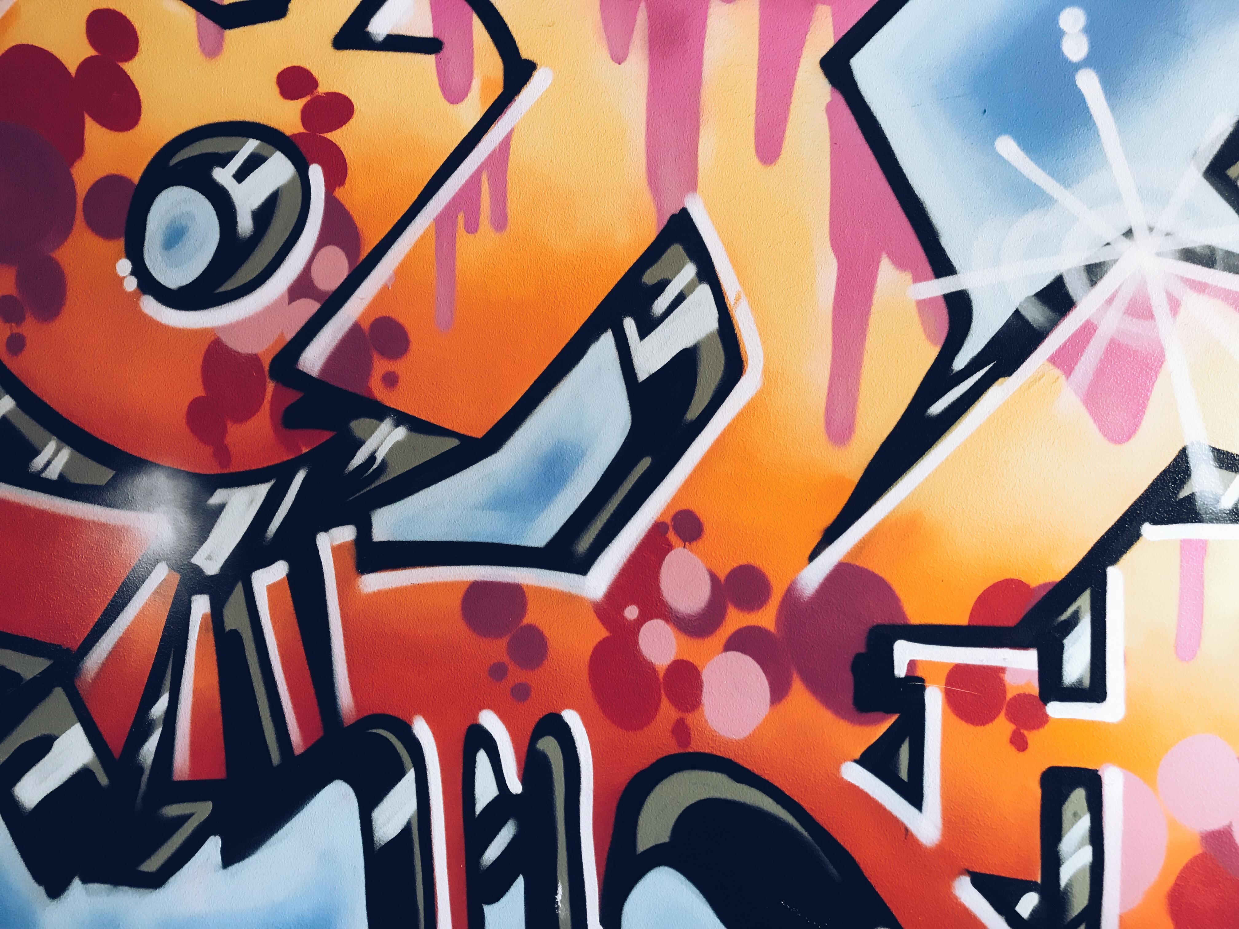 Kuvassa graffiti