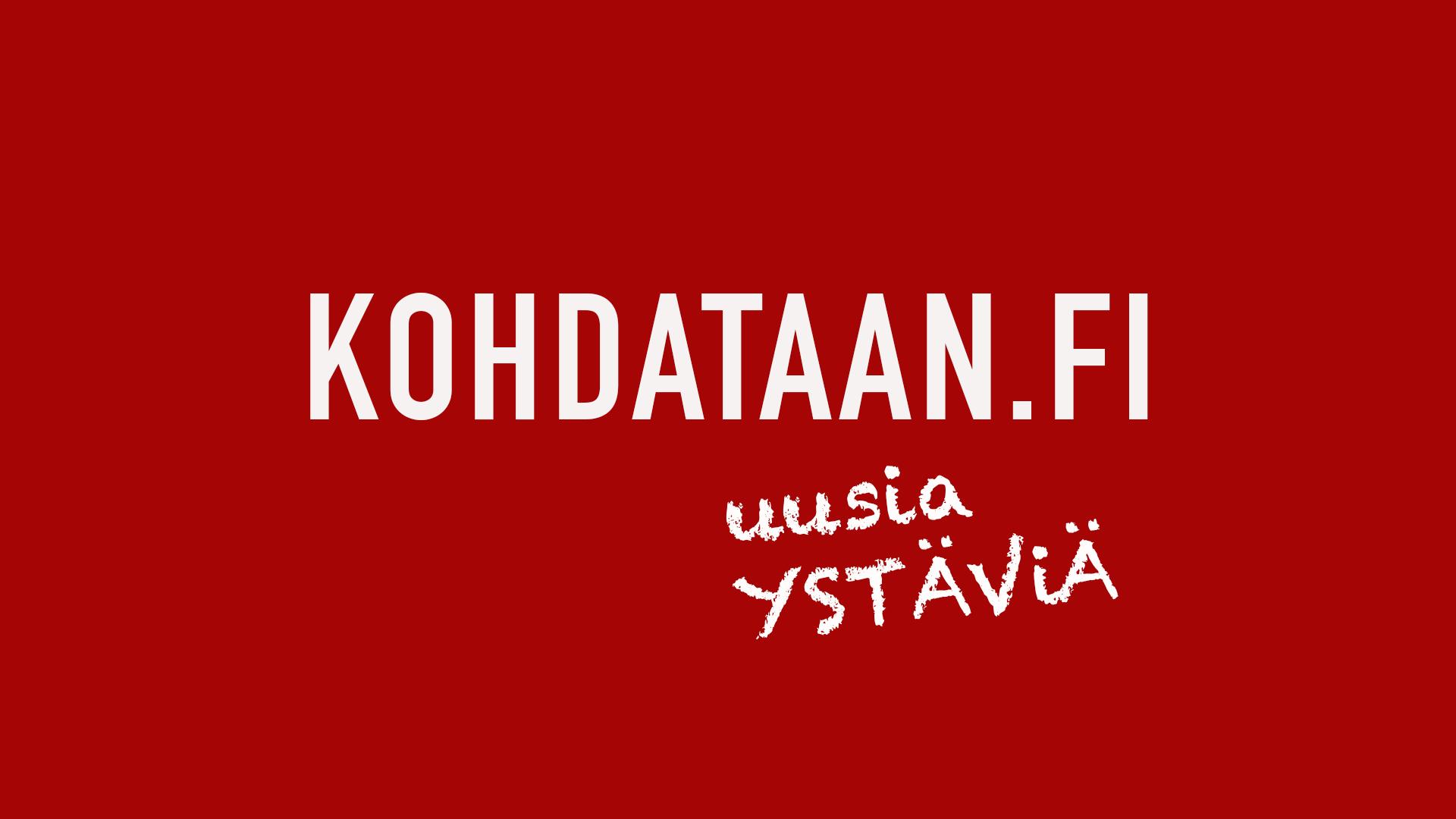 Kuvassa teksti: kohdataan.fi uusia ystäviä